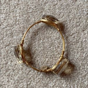 Bourbon and Bow ties gemstone wire bangle